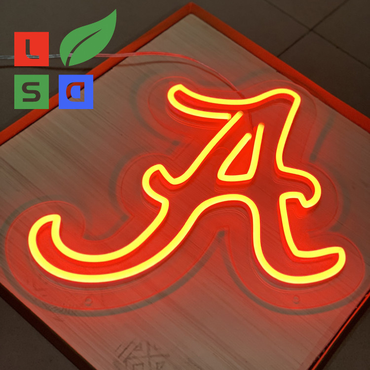 Longlife Neon Letter Sign LED Shop Display Red 3D Custom Signage With Clear Back